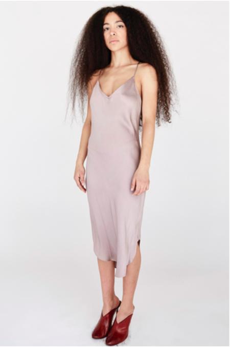 KES Elongated Scalloped Slip Dress