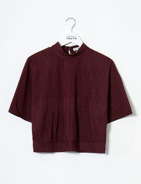 Native Youth Almandine Top - Burgundy