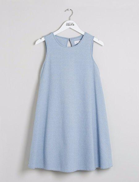 Native Youth Japanese Tack Stitch Shirt Dress