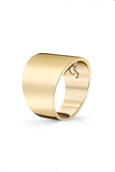 Gabriela Artigas Cigar Band Ring - Yellow Gold Plate