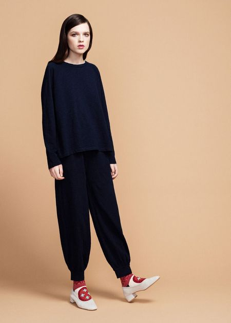 Hansel from Basel Cotton Louise Pant - Indigo