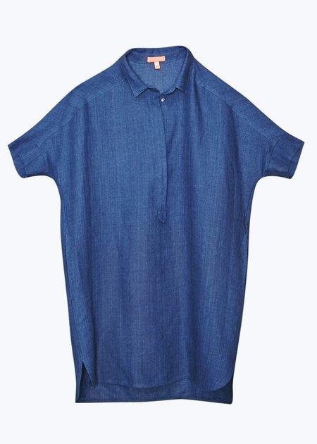 Thomas Sires Tunic Shirt Dress - Indigo