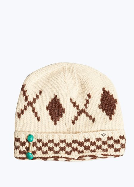 Bsbee Nat/Brown Black Knit Hat - O/S