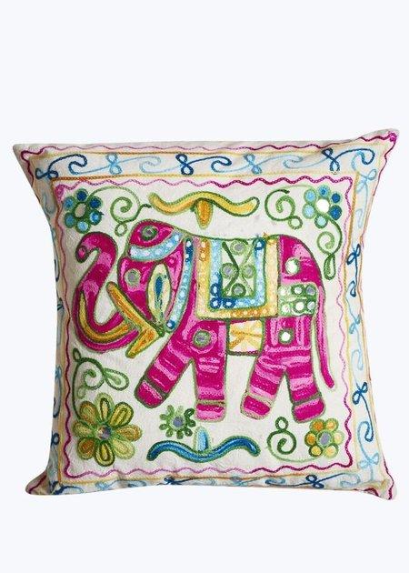 TS Travel Handmade Elephant Pillow - Pink