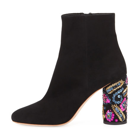 Loeffler Randall Wilder Sequined Boot - BLACK