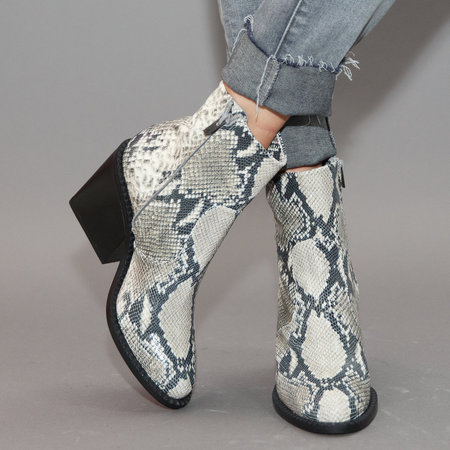 Clergerie Mayan Boot - White Snake