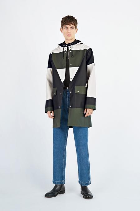 Unisex Henrik Vibskov x Stutterheim Colorblock Raincoat - Green