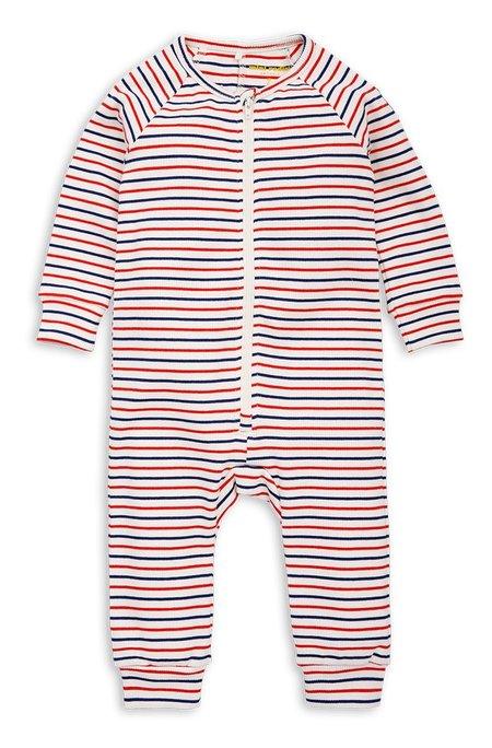 Kids Mini Rodini Stripe Rib Jumpsuit