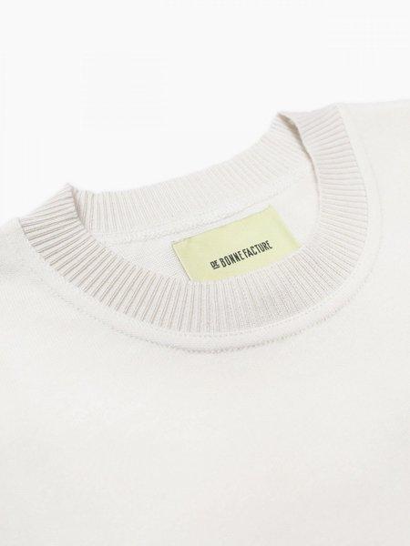 De Bonne Facture Half Sleeve Relaxed T-Shirt - Ecru