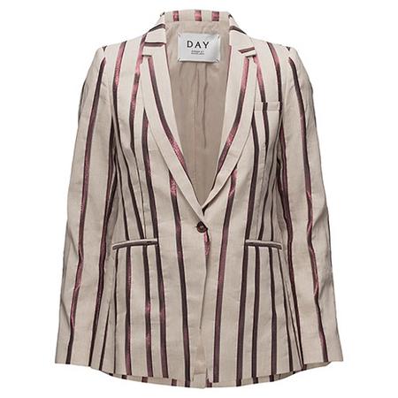 Day Birger et Mikkelsen Linen Smart Blazer - Pink Stripe