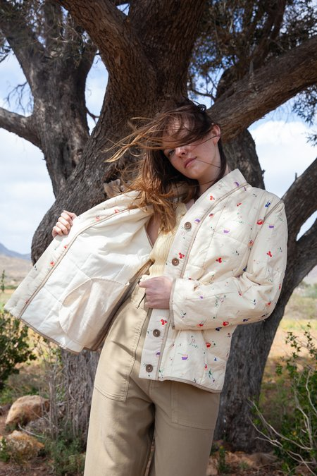 Caron Callahan Tao Jacket - Ivory Floral