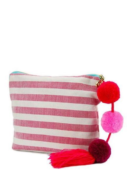 Boutique Mexico Coco Stripe Pouch