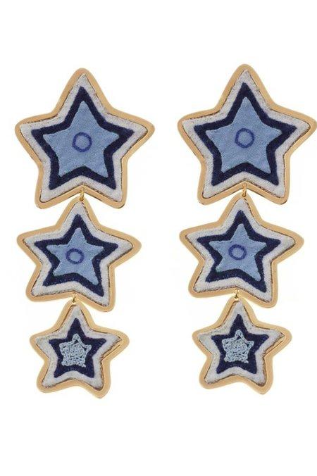 Makua Estrella Maxi Earrings - Blue