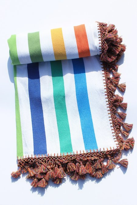 Paradise People Beach Blanket - Rainbow Stripe