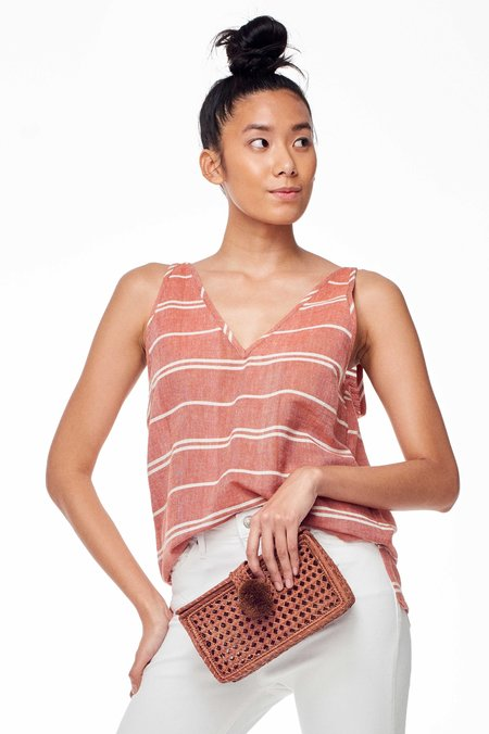 Wax & Cruz Sol Tank Top - Rust Stripe