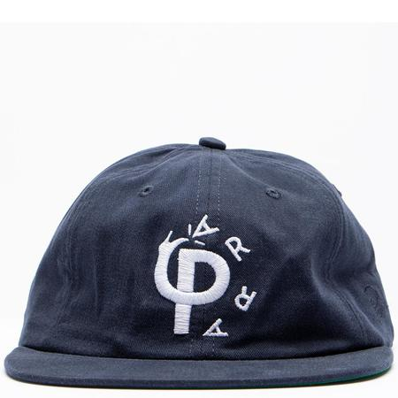 BY PARRA Stomp 6 Panel Hat - Navy Blue