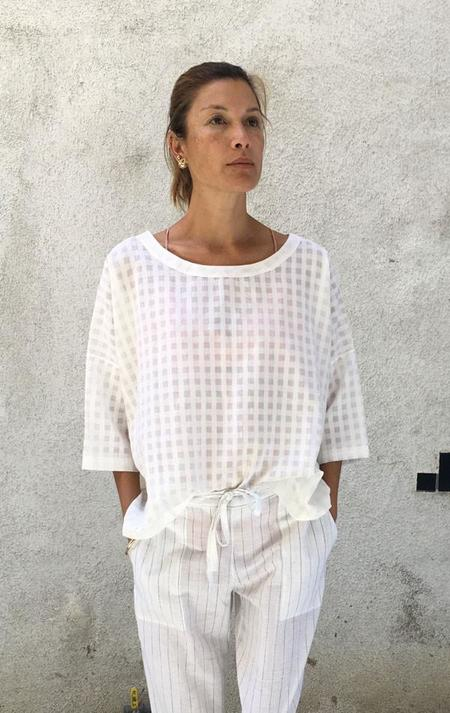 Two The Grid Top - White