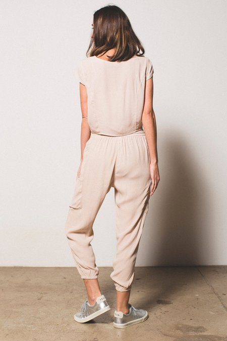 THE ODELLS Draw Cord Slouch Pant - SAND