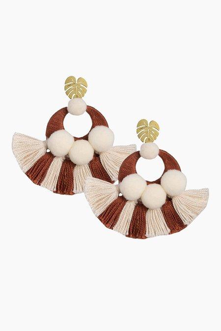 Jetlagmode Beige Salpicon Earrings - Beige