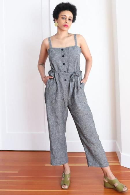 Gravel & Gold Twyla Jumpsuit - Salt & Pepper