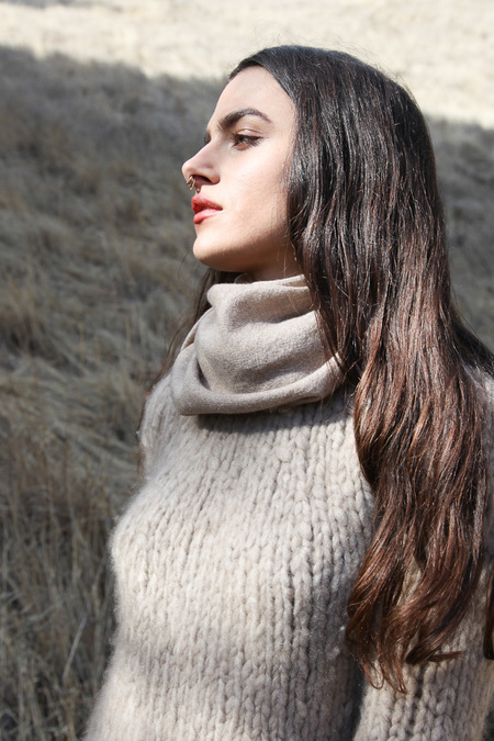 From The Road Square Scarf - Sand