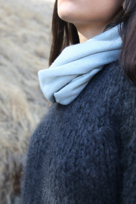 From the Road Square Scarf - Powder