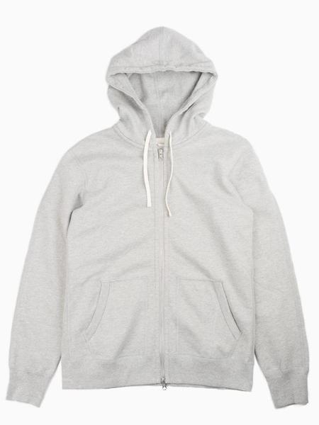 Reigning Champ Midweight Terry Full Zip Hoodie - Heather Grey