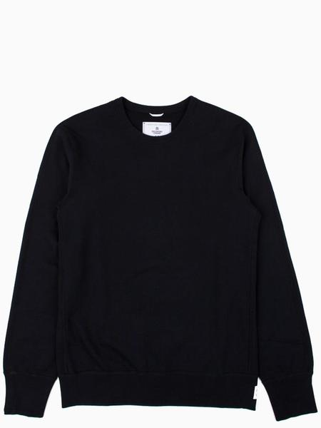 Reigning Champ Midweight Terry Long Sleeve Crewneck - Black