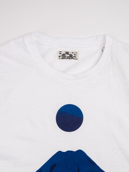 Blue Blue Japan Mt. Fuji Sakura Japan Printed Short Sleeve T-Shirt - White