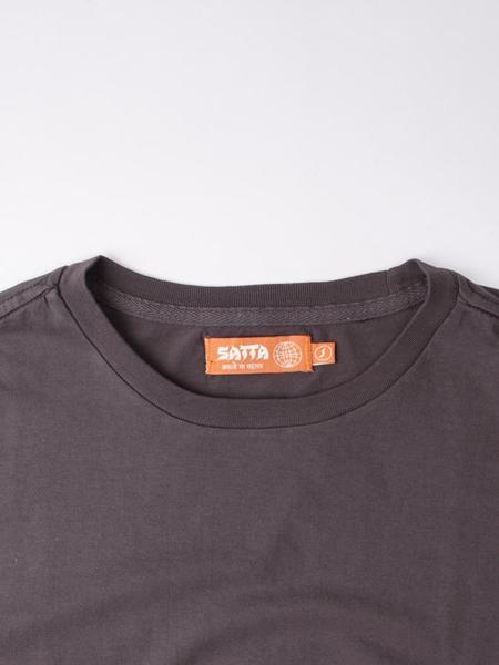 Satta Organic Cotton Tee - Washed Black