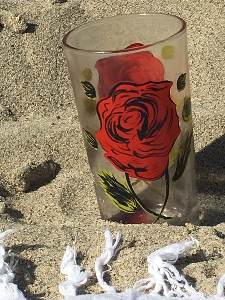 le Market Vintage Rose en Verre