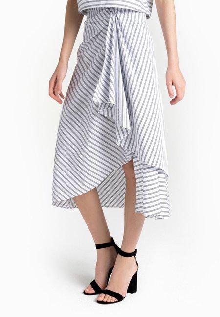 A.L.C. Diller Skirt - Graphite/ White