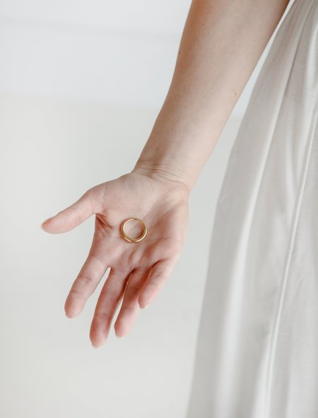 All Blues Hungry Snake Ring - Gold Vermeil