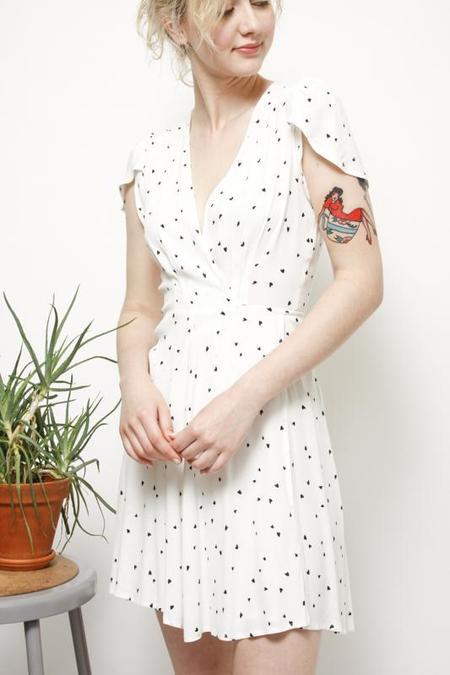 Rollas Dancer Wrap Dress - White Heart