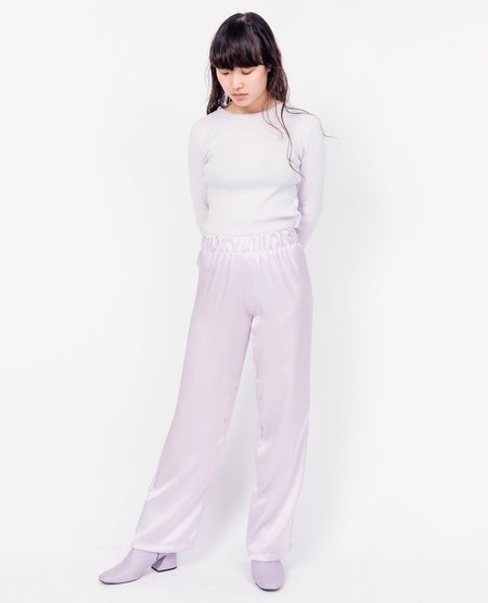 BY SIGNE Silk Pants - Purple