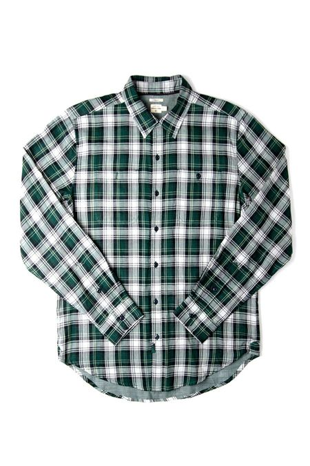 Bridge & Burn Winslow SHIRT - Leaf Green Plaid