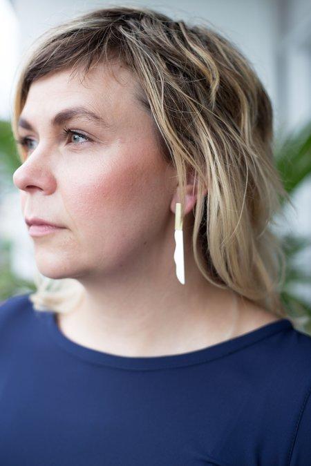 Natalie Joy Mirage Earrings - Silver/Brass