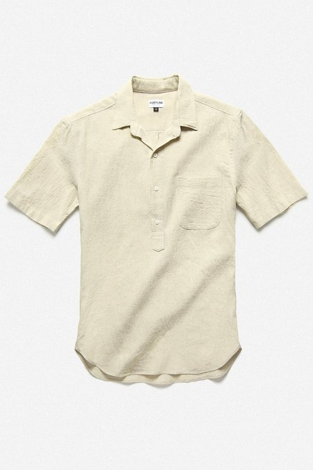 Fortune Goods Popover Shirt - Natural