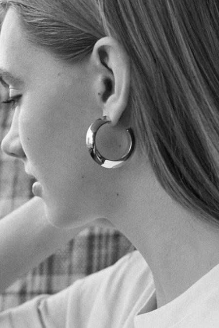 Maria Black Medium Else Hoop Earring - Gold