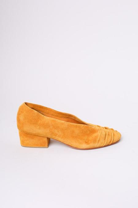 Rachel Comey Sloan Heel - Turmeric Suede