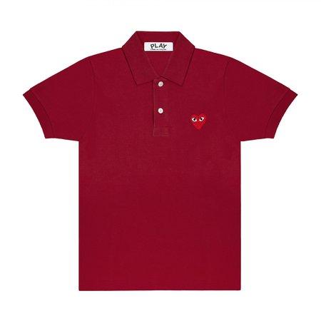 Comme des Garçons-Play Red Play Polo Shirt - Burgundy