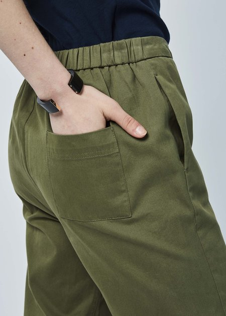 Sibel Saral Was Wide Leg Pant - Military Green