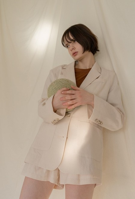 AMONG A Linen Jacket - BEIGE