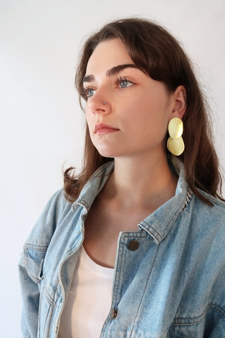 Modern Weaving ELLIPSE Earrings - Brass