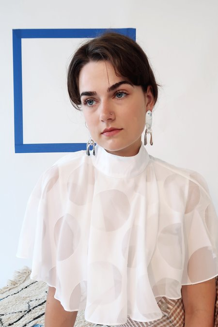 Modern Weaving MODERNIST Earrings - Silver