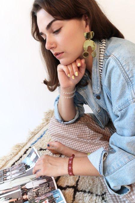 Modern Weaving MOONDANCER Earrings - Brass