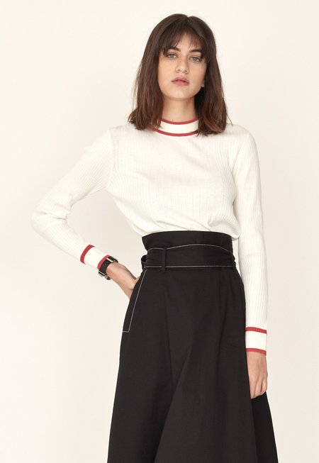 Just Female Ebba Knit - white