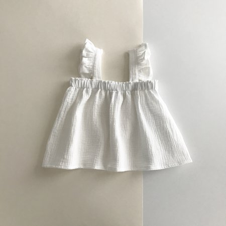 Kids Liilu Zoe Top - White