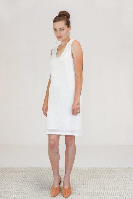 Oak NYC Mesh Tank Dress - Bone