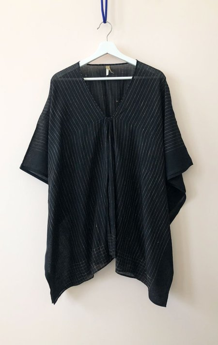 Two Short Caftan Top - Black